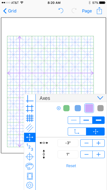 Grid Maker app grid place axes graph paper