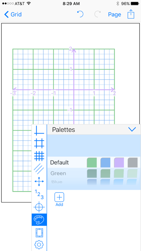Grid Maker app unlimited custom palettes for graph paper