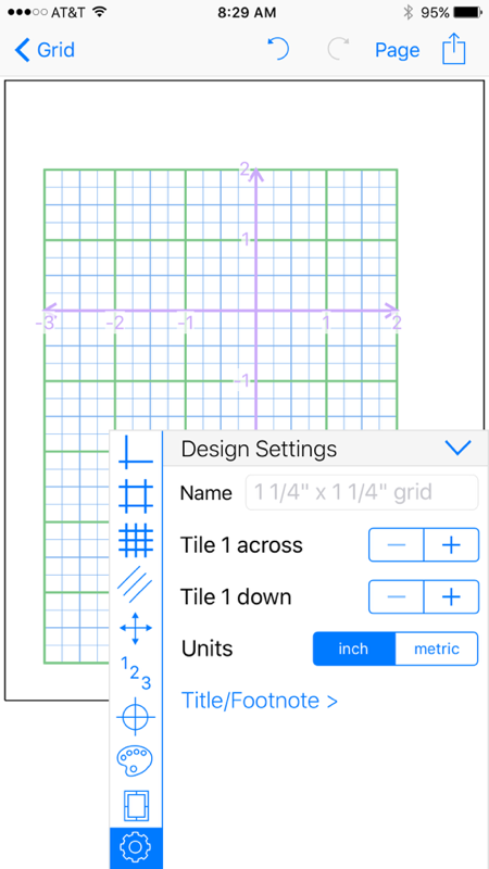 Grid Maker app tile metric named graph paper